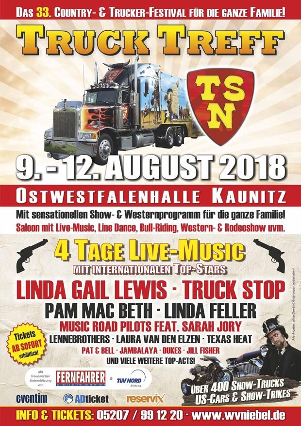 Truck Treff Kaunitz 2018 - Plakat