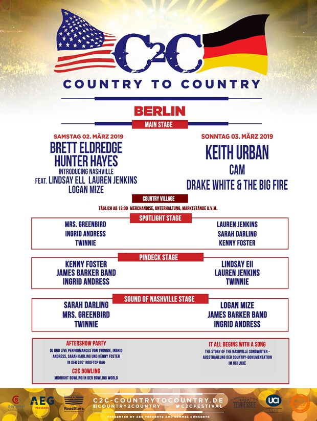 Country To Country 2019 in Berlin