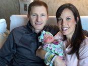 Paul Bogart, seine Frau Tanya und das Baby