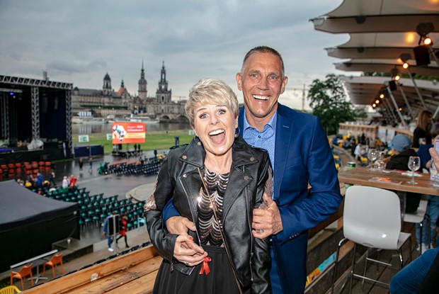 Linda Feller & Ehemann bei der HOPE Gala 2021